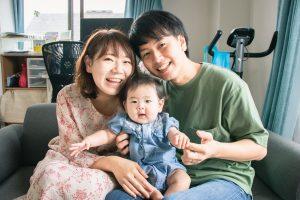 東京で家族写真と一緒に動画を残せる出張撮影プラン1